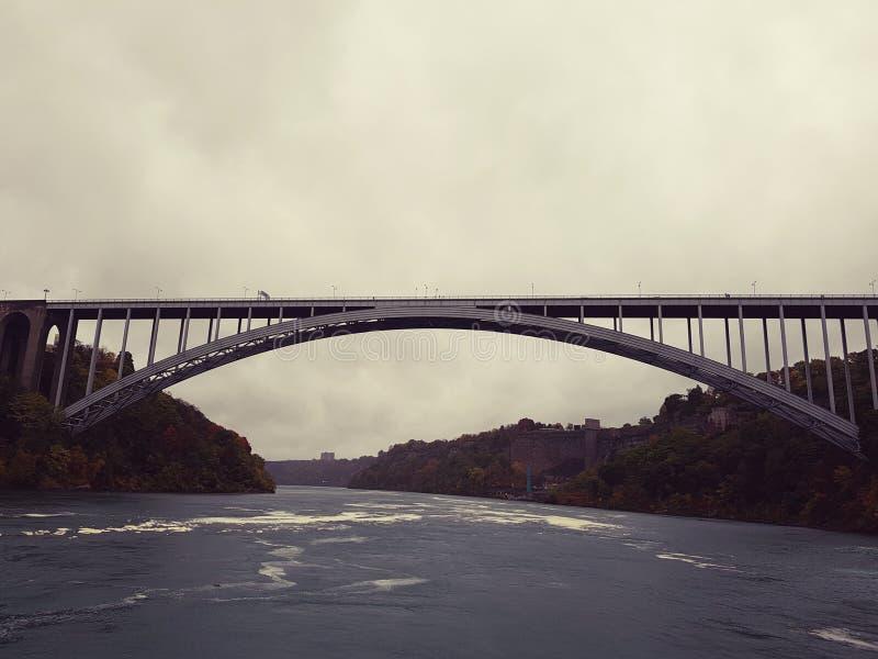 Международный мост радуги стоковая фотография