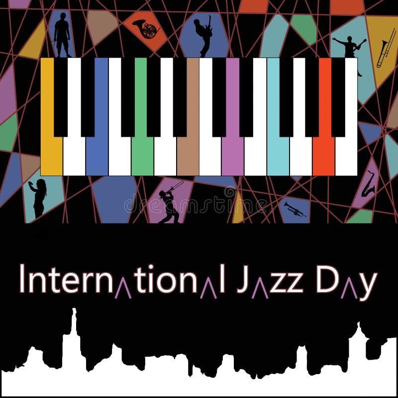 Международный плакат одно дня джаза бесплатная иллюстрация