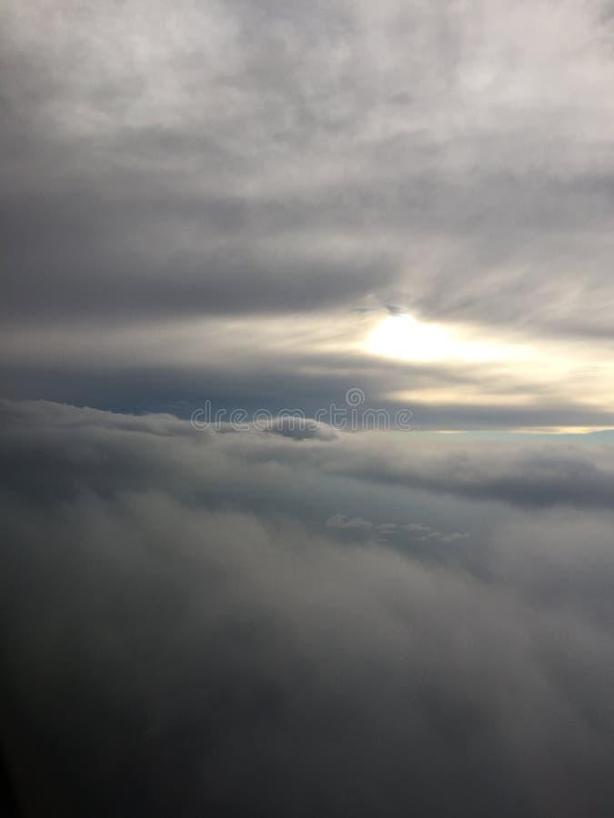 Между облаками стоковое фото rf