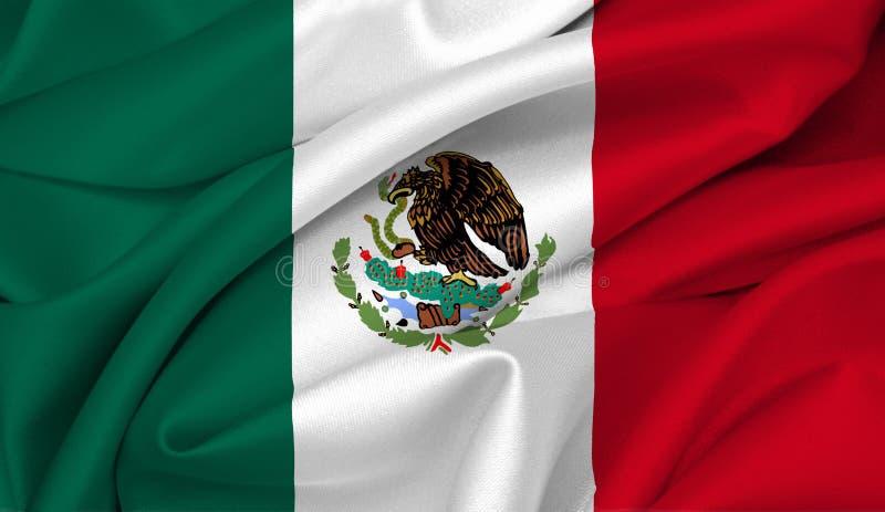 мексиканец Мексика флага иллюстрация вектора