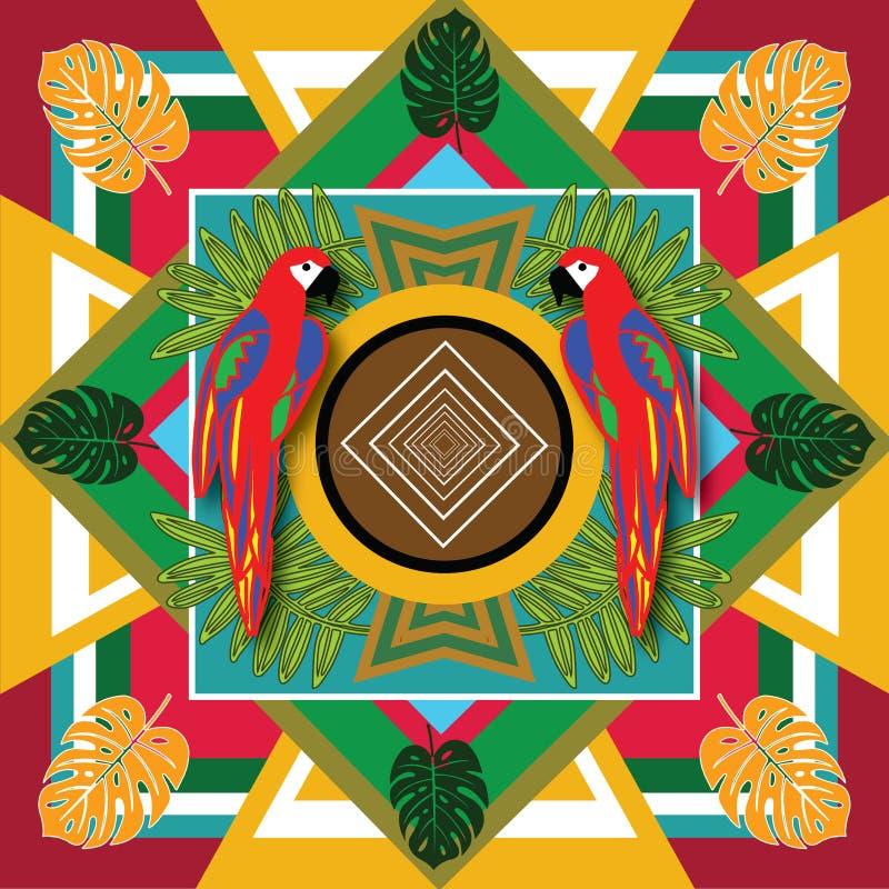 Мексиканская ара печати стоковое фото