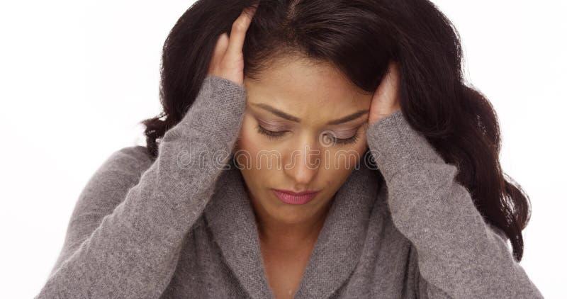 Мексиканская женщина с тревожностью стоковое фото