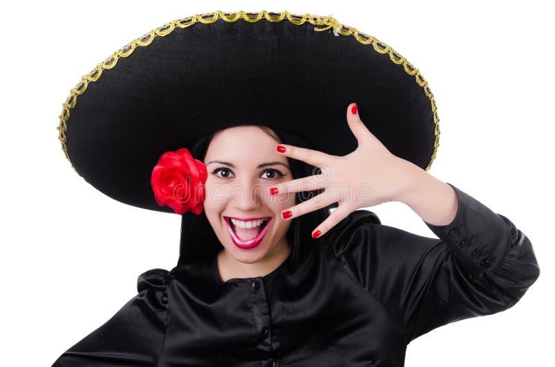 Мексиканская изолированная женщина стоковые изображения