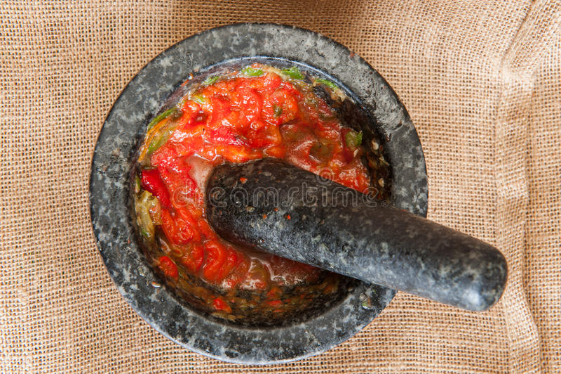 Мексиканская красная сальса стоковые фото