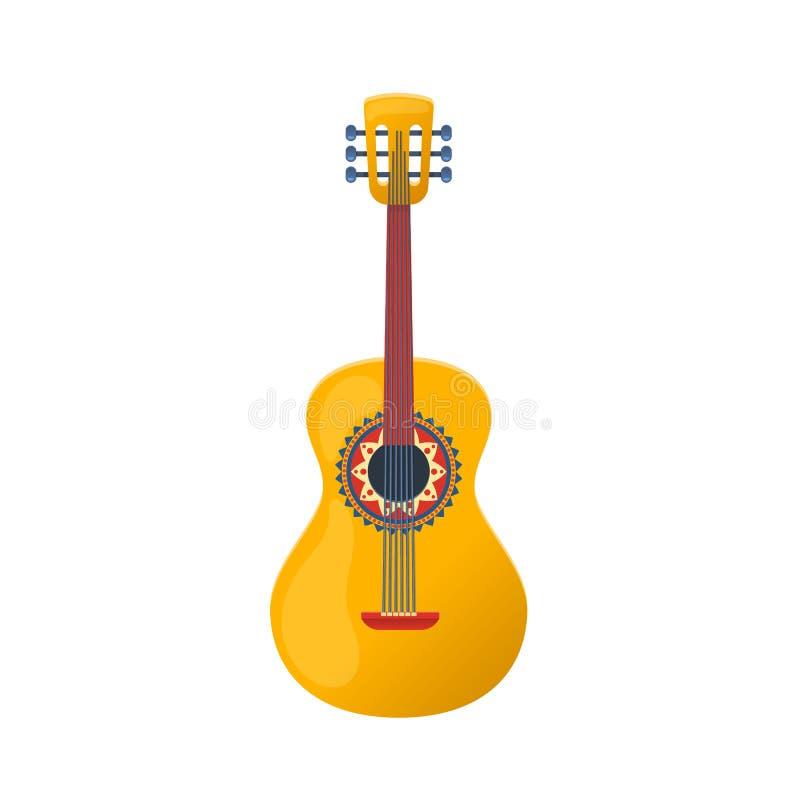 Мексиканская красочная гитара, традиционная звукомерная строка бесплатная иллюстрация