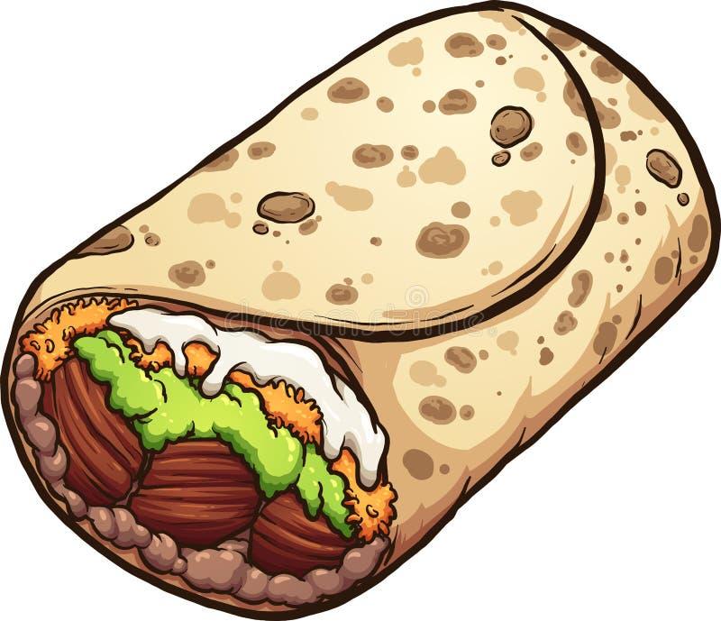 Мексиканская кухня буррито мультфильма бесплатная иллюстрация