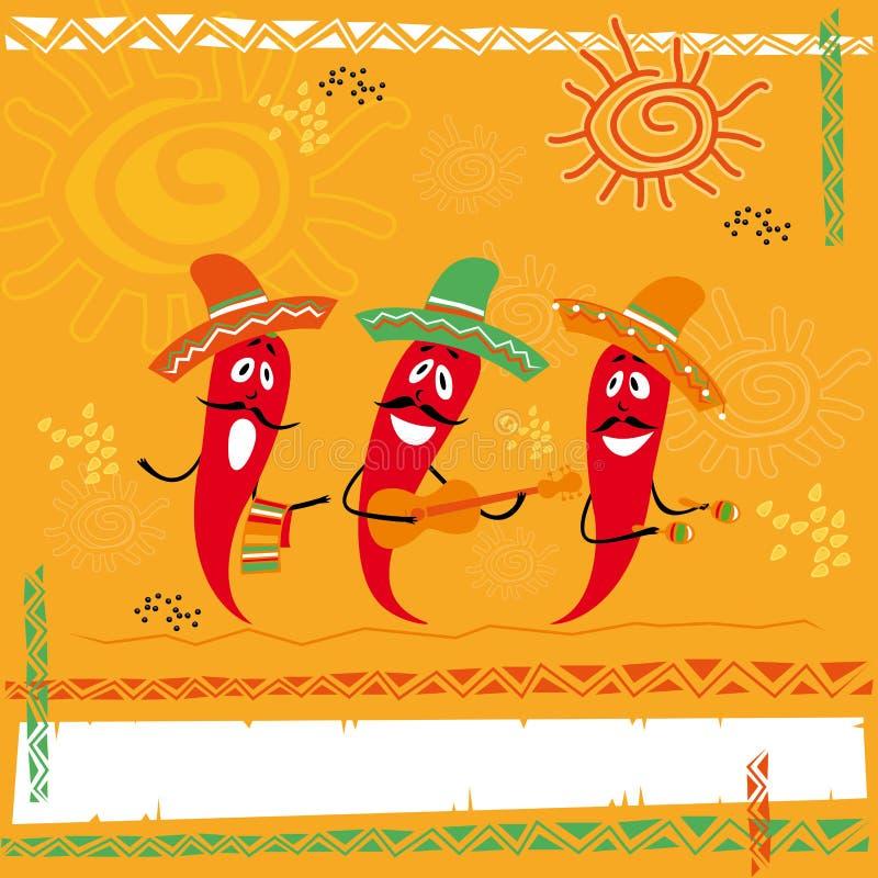 Мексиканская кухня иллюстрация штока