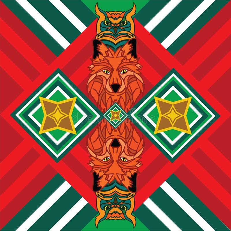 Мексиканская лиса печати стоковые изображения rf