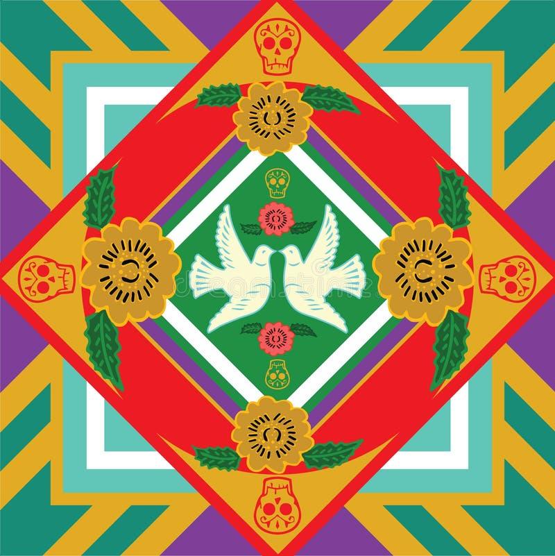 Мексиканская печать октябрь стоковое изображение