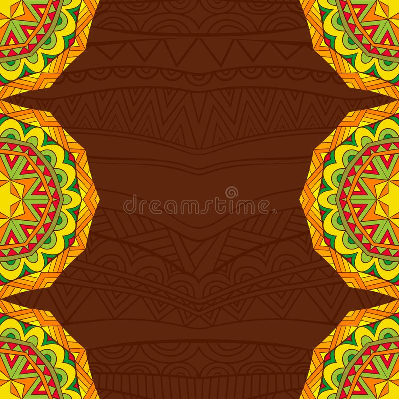 Мексиканская предпосылка стиля фиесты в ярких цветах иллюстрация вектора