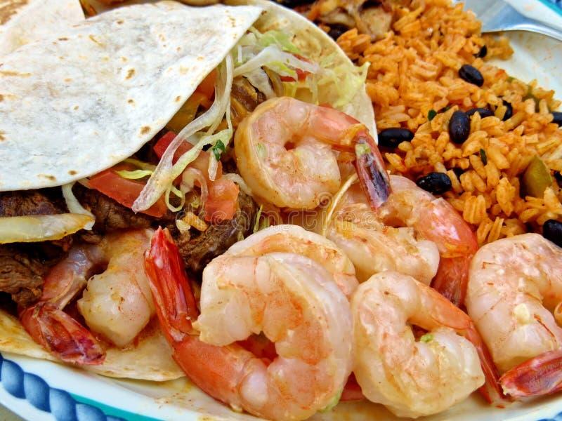 Мексиканская плита еды стоковая фотография