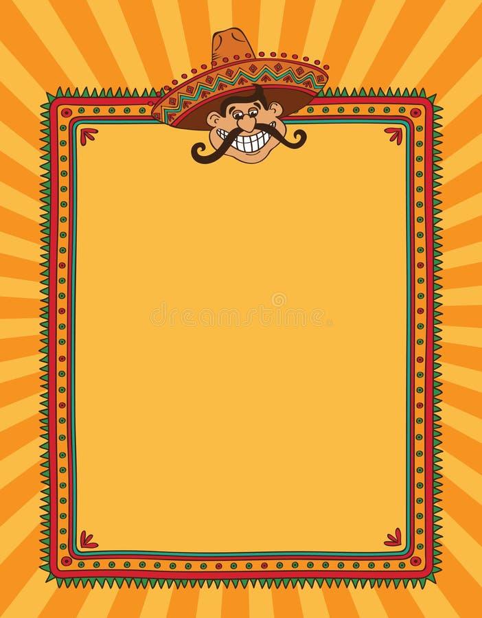 Мексиканская рамка иллюстрация штока