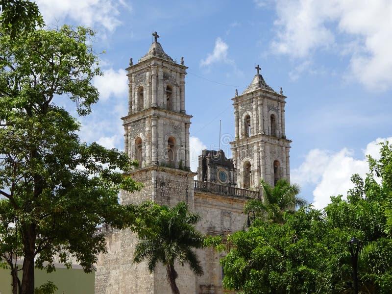 Мексиканская церковь в Юкатане стоковое фото rf