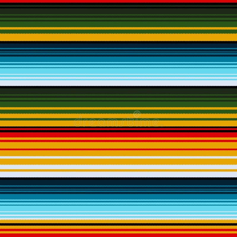 Мексиканская этническая striped безшовная картина Традиционный фольклорный handmade сплетенный орнамент иллюстрация штока