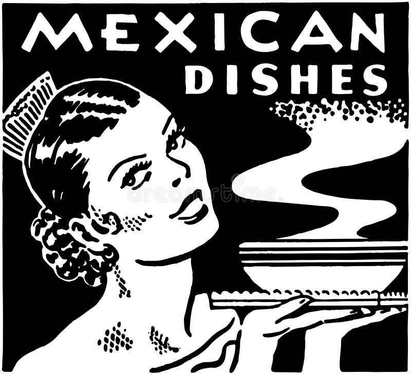 Мексиканские блюда иллюстрация штока