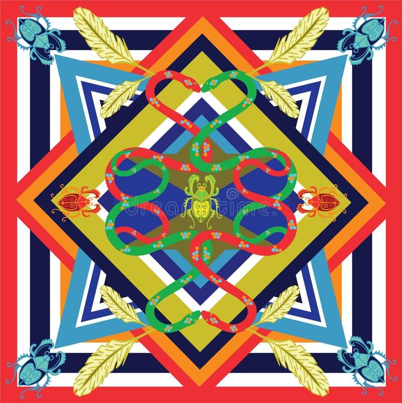 Мексиканские змейки печати стоковое фото rf