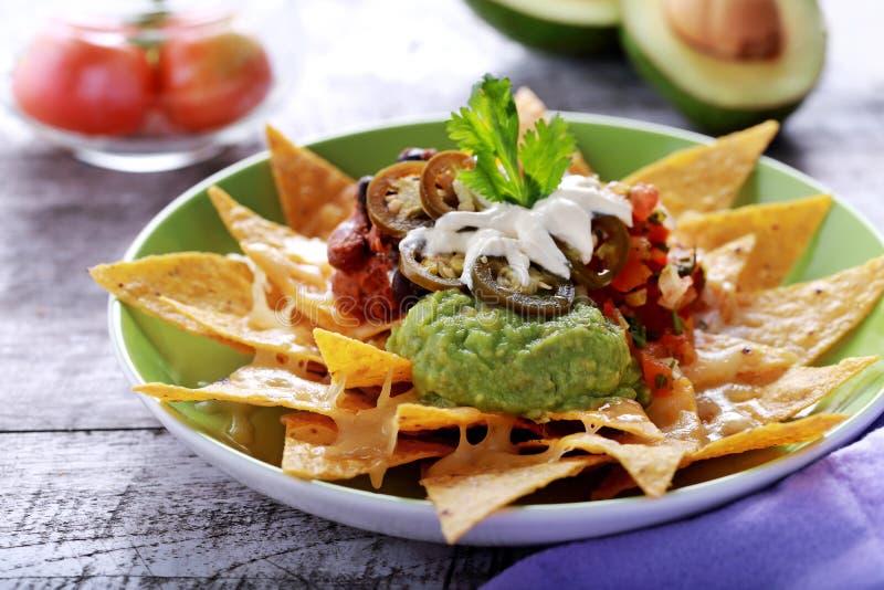 Мексиканские nachos высшие стоковые изображения