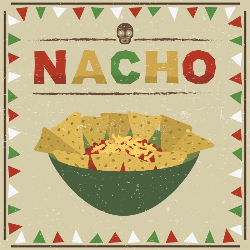 мексиканские nachos иллюстрация вектора