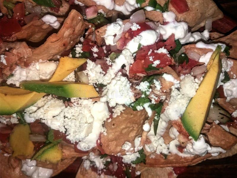 мексиканские nachos стоковые изображения