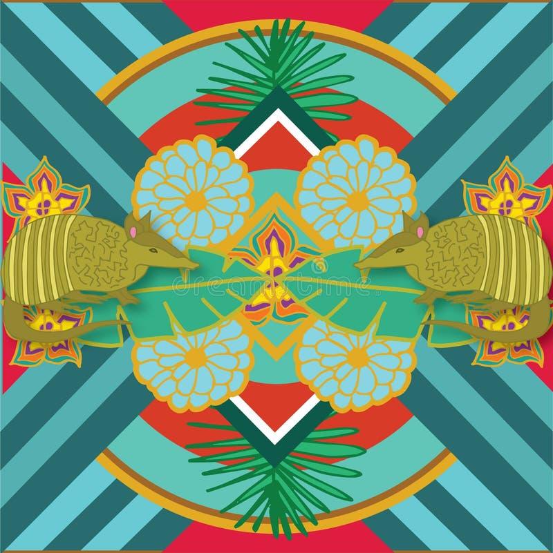 Мексиканский броненосец печати стоковые изображения