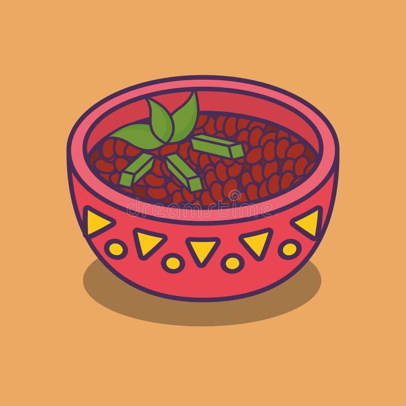 мексиканский дизайн еды бесплатная иллюстрация