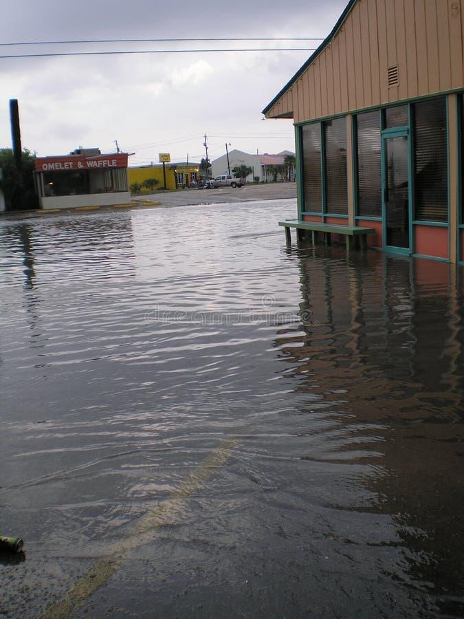 Мексиканский залив пляжа Панама (город) затопляя штормы идет дождь муссон стоковое изображение rf