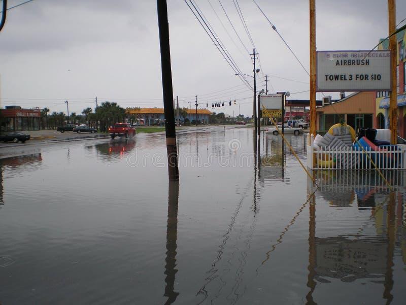 Мексиканский залив пляжа Панама (город) затопляя штормы идет дождь муссон стоковые изображения rf
