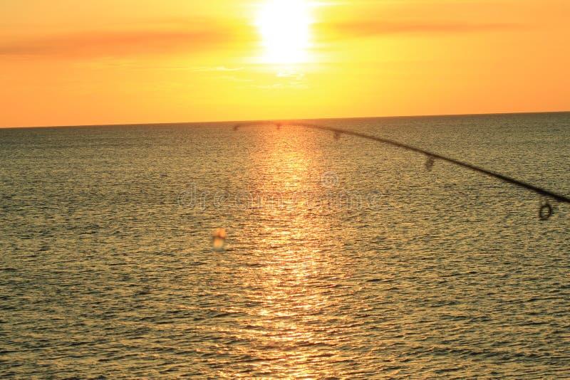 Мексиканский залив пляжа Панама (город) около захода солнца живописного стоковые изображения rf