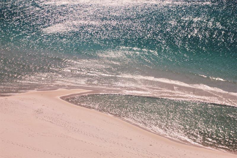Мексиканский залив пляжа Панама (город) около захода солнца живописного стоковое изображение rf