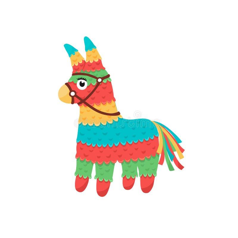 Мексиканский изолированный pinata иллюстрация вектора