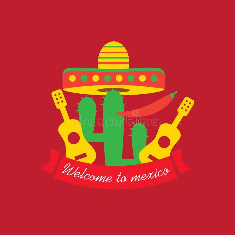 Мексиканский логотип еды Мексиканский шаблон логотипа фаст-фуда мексиканско бесплатная иллюстрация