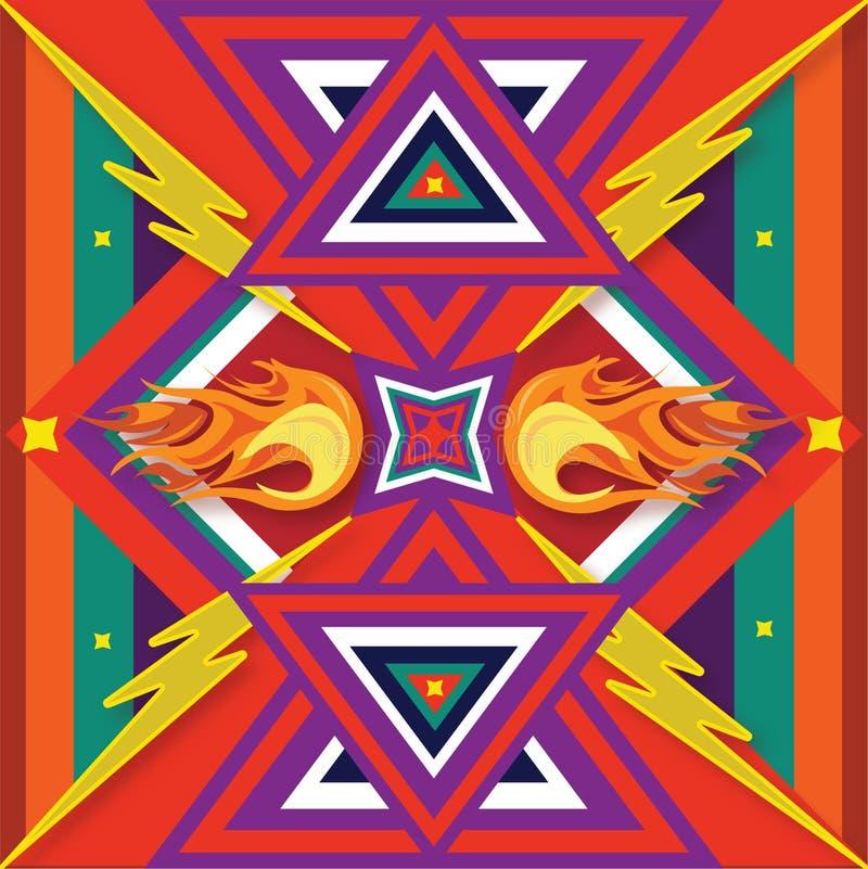 Мексиканский огонь печати стоковое фото rf