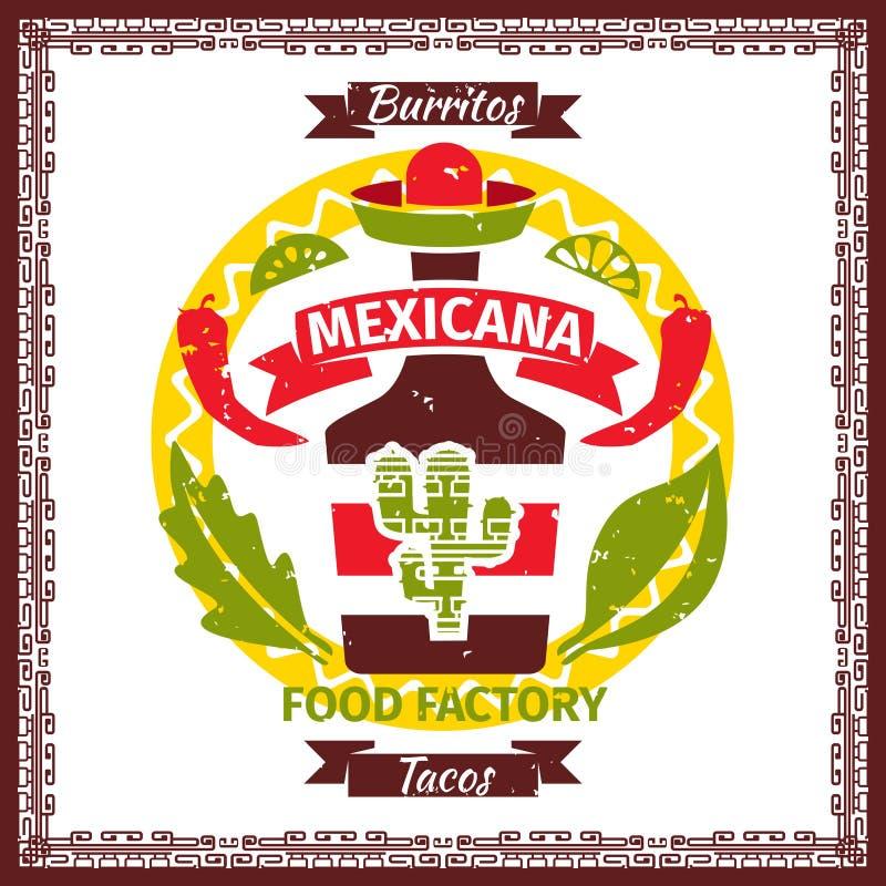 Мексиканский плакат меню тако и буррито еды бесплатная иллюстрация