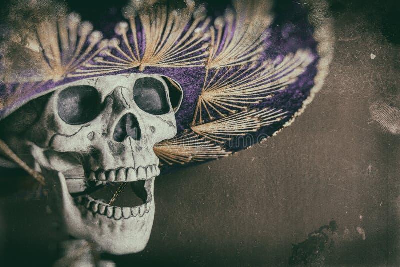 Мексиканский скелет бандита стоковые фото