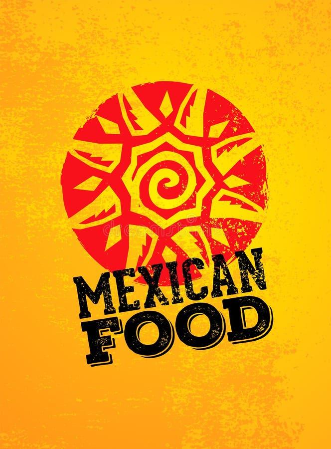 Мексиканский шаблон дизайна логотипа еды Предпосылка иллюстрации логотипа еды вектора традиционная иллюстрация вектора