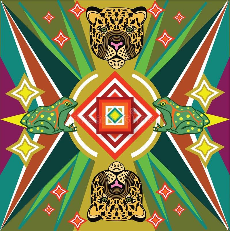 Мексиканский ягуар печати стоковые фотографии rf