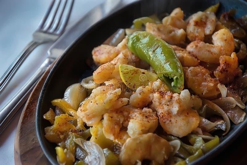 Мексиканский fajita морепродуктов стоковое изображение rf