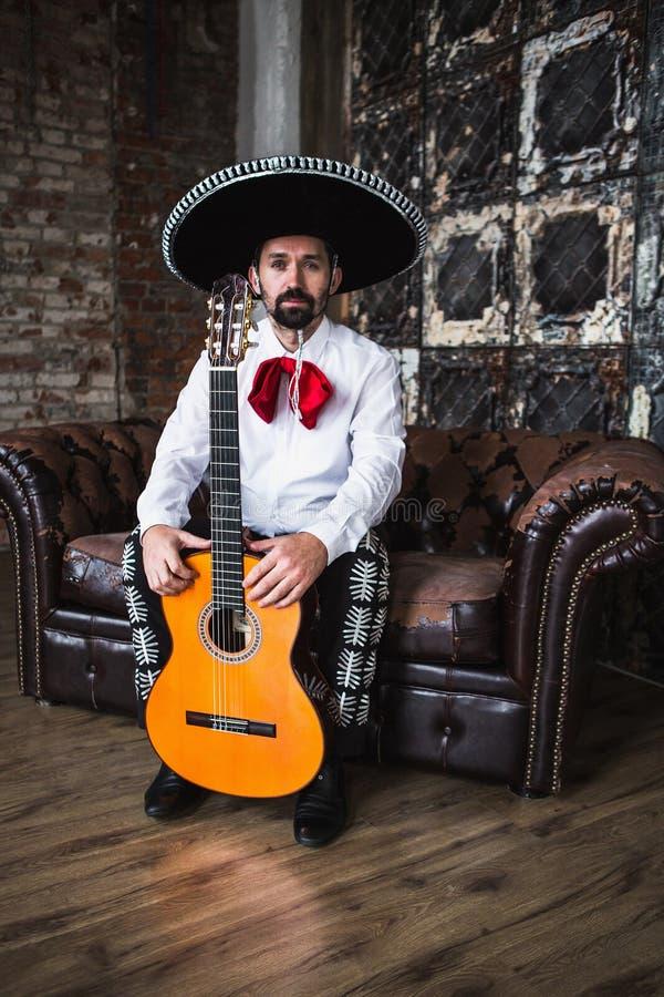 Мексиканский mariachi музыканта стоковые фото