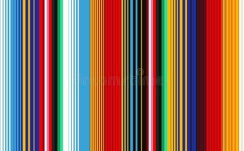 Мексиканское одеяло Stripes безшовная картина вектора бесплатная иллюстрация