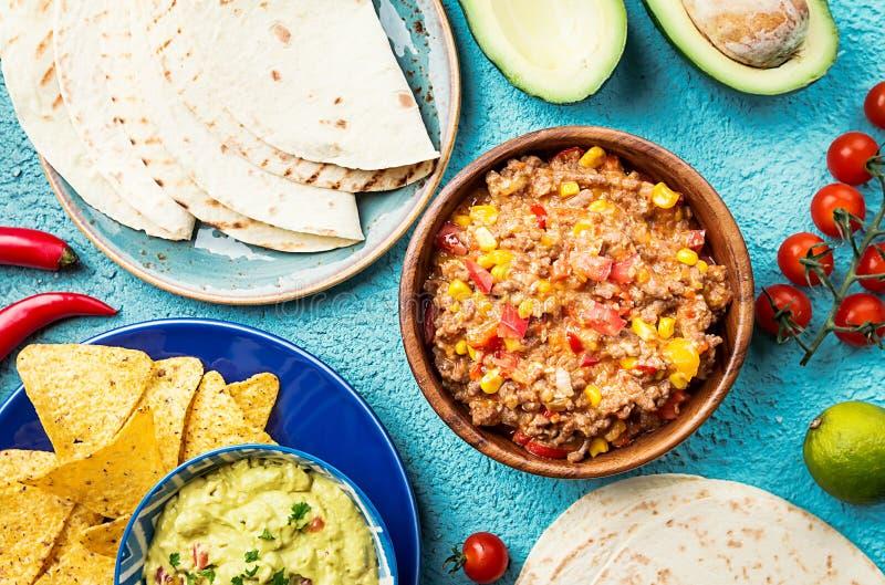 Мексиканское смешивание еды стоковая фотография rf