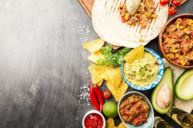 Мексиканское смешивание еды стоковая фотография