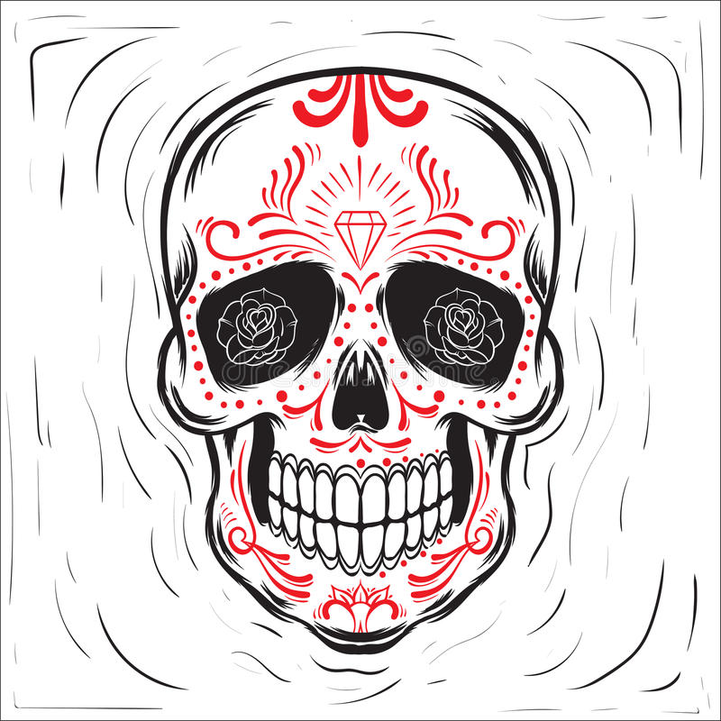 Мексиканское skul сахара бесплатная иллюстрация