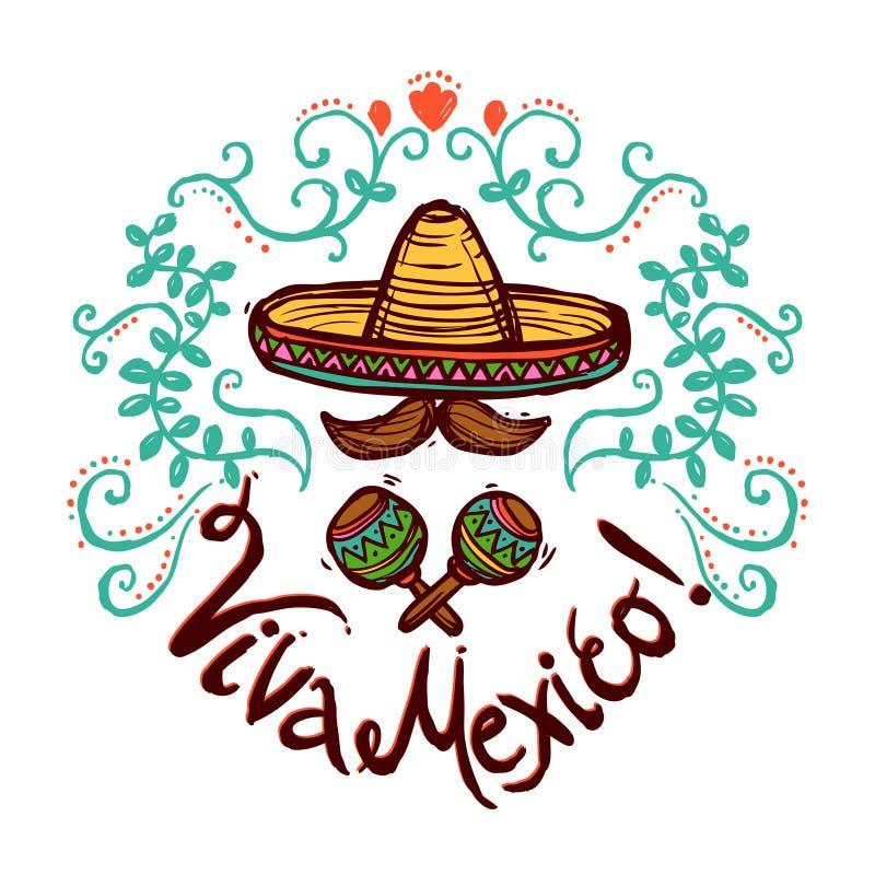 Мексиканськая иллюстрация эскиза иллюстрация вектора
