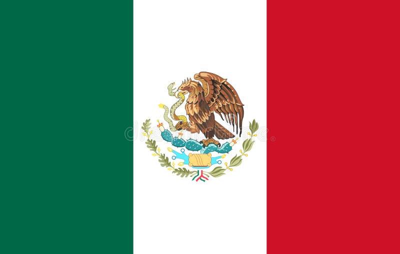 Мексиканський флаг все любые могут различные легко редактируемые графики формы индивидуально наслаивают двинутый потерей размер в иллюстрация вектора