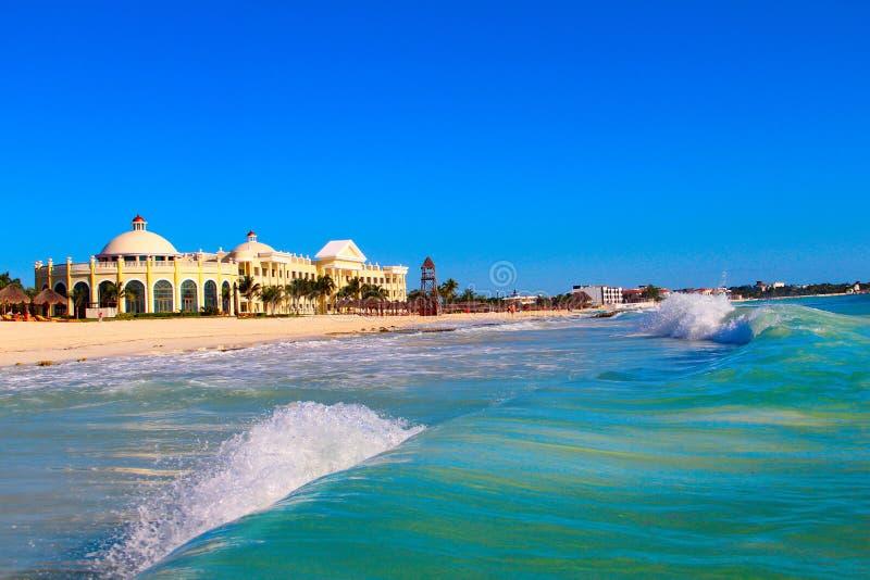 Мексика Пляж ` Iberostar грандиозного Paraiso ` гостиницы стоковое фото rf