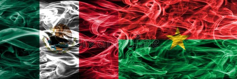 Мексика против дыма Буркина Фасо сигнализирует помещенную сторону - мимо - сторона мексиканско бесплатная иллюстрация