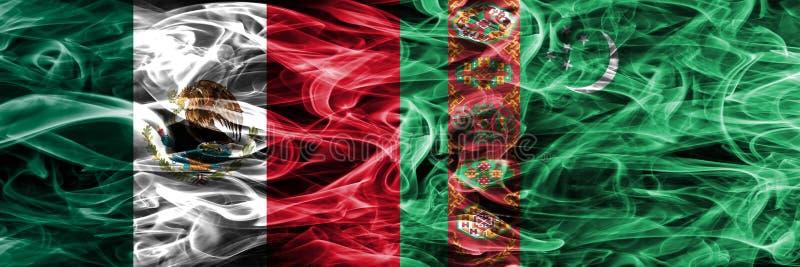 Мексика против дыма Туркменистана сигнализирует помещенную сторону - мимо - сторона мексиканско бесплатная иллюстрация