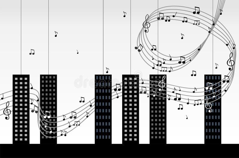 мелодия города иллюстрация штока