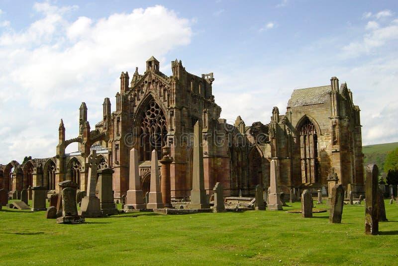 Download Мелроуз аббатства стоковое фото. изображение насчитывающей английско - 1199374