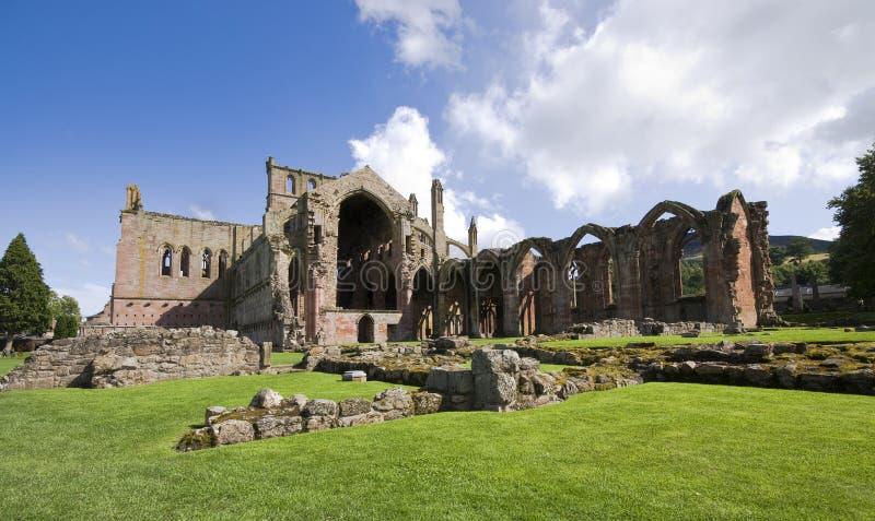 Мелроуз Шотландия аббатства стоковая фотография